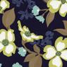 Joel Dewberry Modern Meadow Dogwood Blossom Lake-cotton, fabric, modern, meadow, dogwood, blossoms, flowers, joel, dewberry, lake, blue, quilting, se