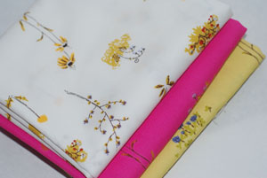 Heather Ross Lightning Bugs and Other Mysterious Things FQ Bundle Dandelions-cotton, fabric, heather, ross, lightning bugs, and, other, mysterious things, dandelions, yellow, pi