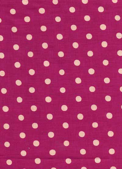 Pink Echino Dot Linen Cotton Blend Fabric-echino, pink, dot, linen, cotton, blend, fabric, japanese, import