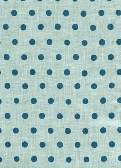 Blue Echino Dots Cotton/Linen Blend Japanese Fabric-echino, blue, dot, linen, cotton, blend, fabric, japanese, import