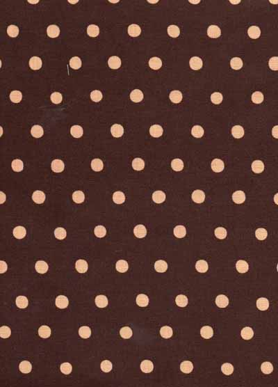 Pink and Brown Echino Dot Linen Cotton Blend Fabric-echino, pink, brown, dot, linen, cotton, blend, fabric, japanese, import