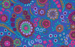 Liberty Art Marylebone KASHMIR LB15 Blue Cotton Fabric-cotton, fabric, liberty of london, liberty art, blue, kashmir, marylebone