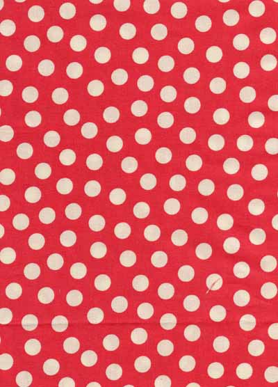 Moda Urban Chiks Sweet Red White Dot Cotton Fabric-moda, urban chiks, sweet, dots, cotton, fabric, red, white